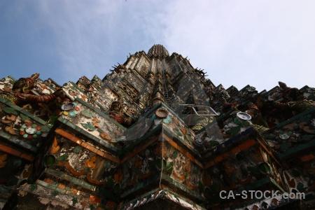 Wat arun bangkok buddhist asia thailand.