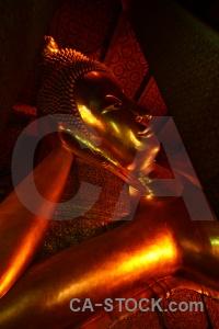 Wat pho gold buddha asia southeast.