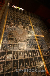 Wat pho gold buddha southeast asia thailand.