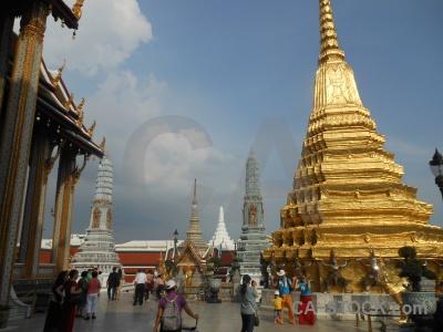 Wat phra kaeo southeast asia column cloud palace.