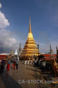 Wat phra si rattana satsadaram pyramid palace ornate buddhist.