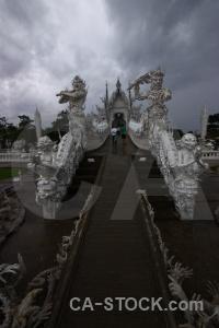 Wat rong khun sky southeast asia ornate chiang rai.