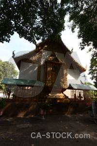 Wat sri gerd thailand temple sky railing.