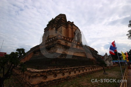 Watchediluang varaviharn buddhist brick chiang mai southeast asia.