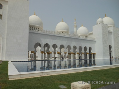 Water abu dhabi grand grass pool.