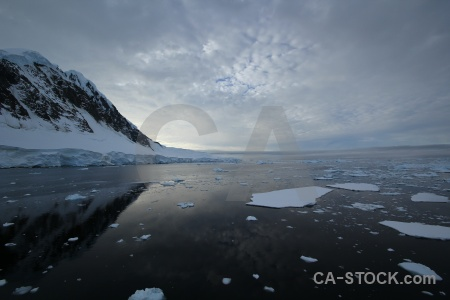 Water antarctica reflection channel sea ice.