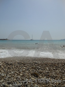 Water beach stone spain wave.