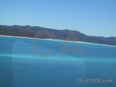 Water blue cyan island aerial.