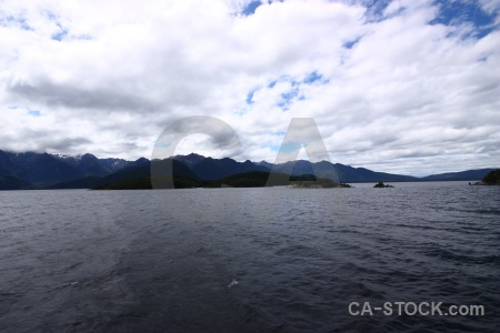 Water cloud lake manapouri new zealand south island.
