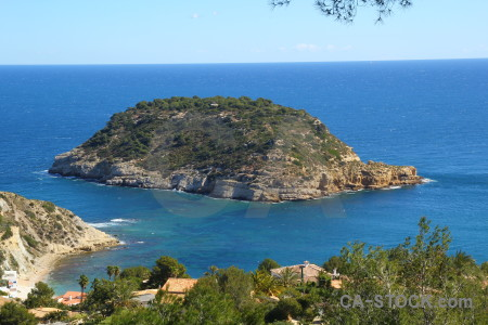 Water coast javea spain sea.