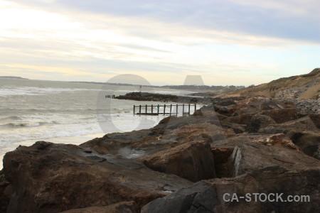 Water coast rock sea landscape.