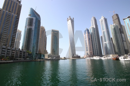 Water dubai uae building canal.