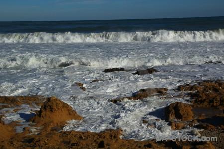 Water europe spain wave sea.
