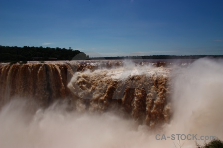 Water garganta del diablo river waterfall iguazu.