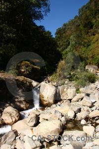 Water himalayan valley annapurna sanctuary trek river.
