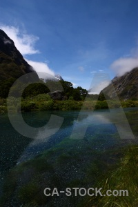 Water hollyford river landscape mountain sky.