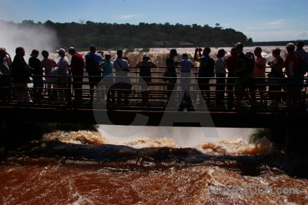 Water iguacu falls iguazu river garganta del diablo.