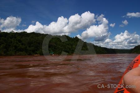 Water iguazu river unesco argentina sky.