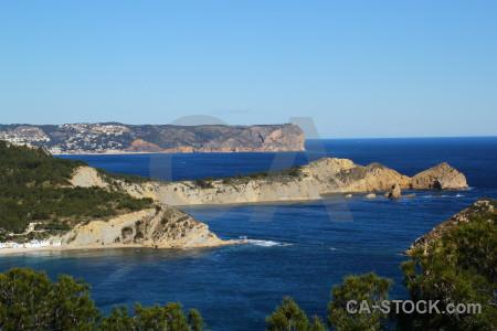 Water javea coast sea cliff.