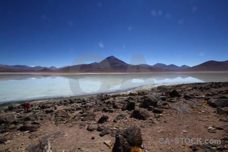 Water laguna blanca altitude sky bolivia.
