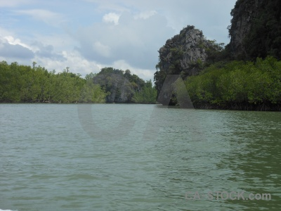 Water limestone cloud mangrove asia.