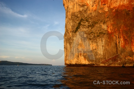 Water limestone sky thailand rock.