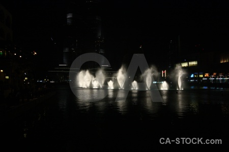Water night western asia pool fountain.