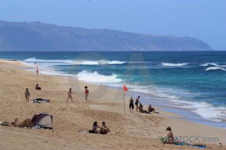 Water person sea blue beach.