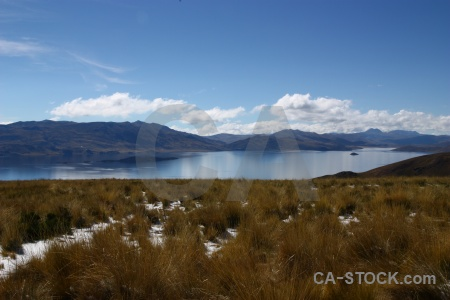 Water puno mountain lake south america.