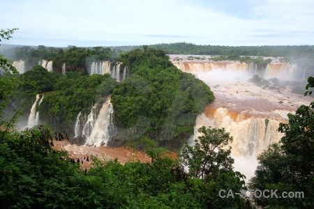 Water river brazil iguacu falls waterfall.
