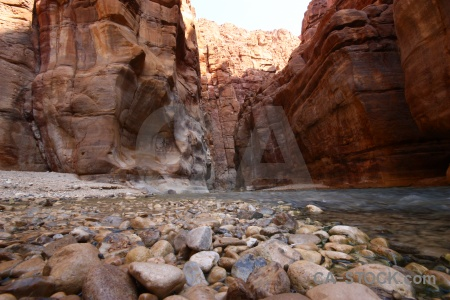 Water river cliff mujib gorge.