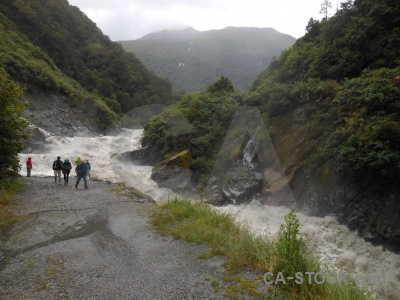 Water river gates of haast mountain boulder.