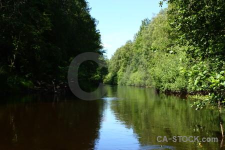 Water river green black.