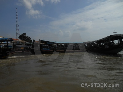 Water river mekong delta sky song tien.