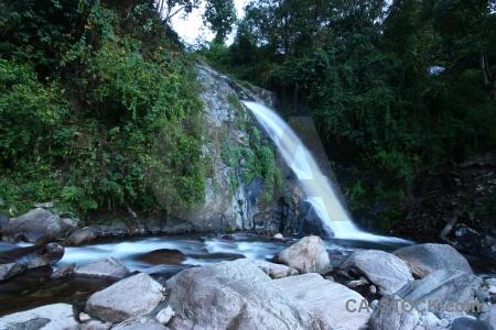 Water rock asia himalayan waterfall.