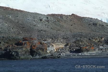 Water rock ice sea south shetland islands.