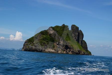 Water rock sky phi island southeast asia.