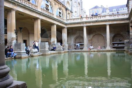 Water roman baths person uk bath.