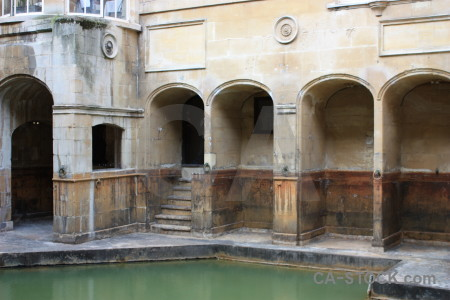 Water roman baths uk building pool.