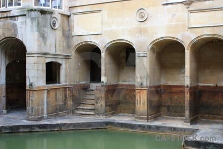 Water roman baths uk building pool.