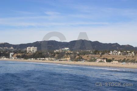 Water sea blue beach cityscape.