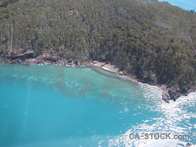 Water sea island aerial cyan.