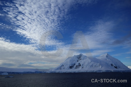 Water sea landscape snow antarctic peninsula.