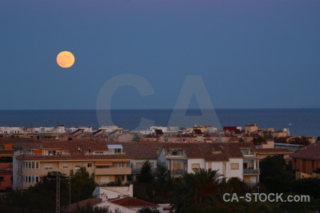 Water sky javea moon building.