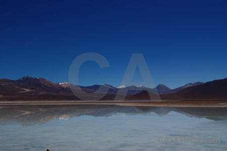 Water sky landscape andes lake.