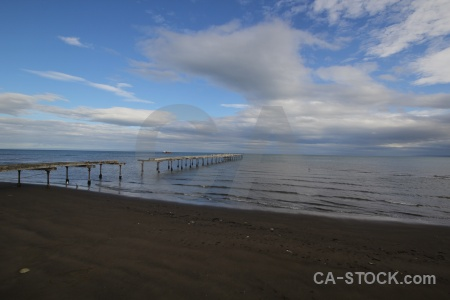 Water sky sea punta arenas chile.
