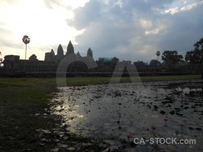 Water sky siem reap buddhism plant.