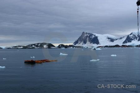 Water sky zodiac antarctica cruise marguerite bay.