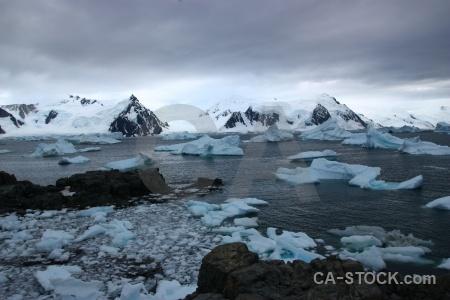 Water snowcap antarctica iceberg marguerite bay.