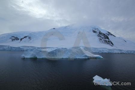 Water snowcap mountain sea adelaide island.